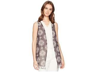 Cruel Printed Non-Crinkle Chiffon Vest Women's Vest