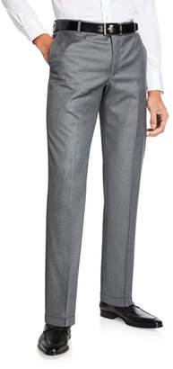 Hickey Freeman Men's Traveler Solid Dress Trousers