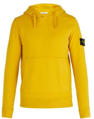 Stone Island Cotton Jersey Hooded Sweater - Mens - Yellow