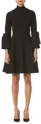 Carolina Herrera Turtleneck Bell-Sleeve Knit Dress