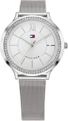 Tommy Hilfiger Silver Crystal Watch