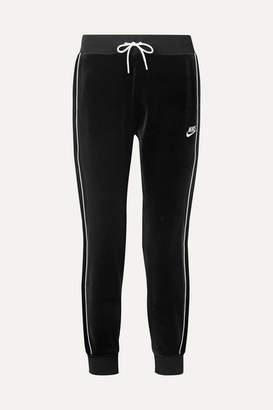 Nike Stretch-velour Track Pants - Black