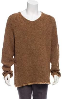 John Varvatos Wool & Camel V-Neck Sweater