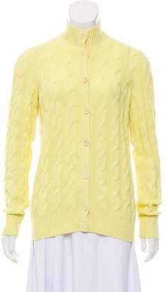 63536ae1d6 Loro Piana Baby Cashmere Cable Knit Cardigan