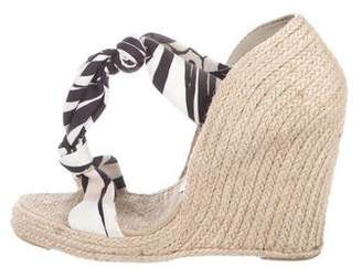 Stella McCartney Canvas Espadrilles Wedges