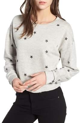 ALL IN FAVOR Star Print Sweatshirt