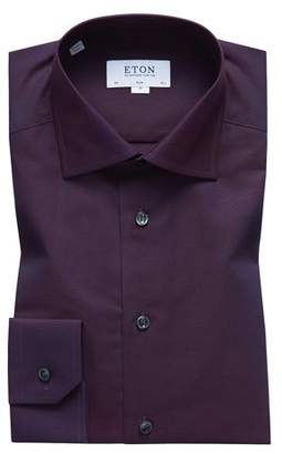 Eton Men's Slim-Fit Solid Egyptian Cotton Dress Shirt