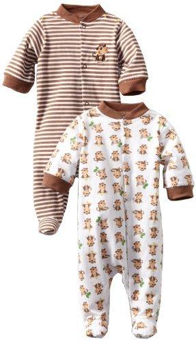 Gerber Baby-Boys 2 Pack Sleep N Play Snap Front Monkey