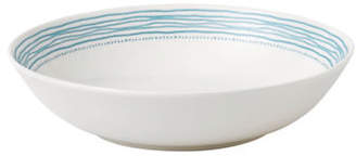 ED Ellen Degeneres Crafted by Royal Doulton Polar Blue Dots Pasta Bowl