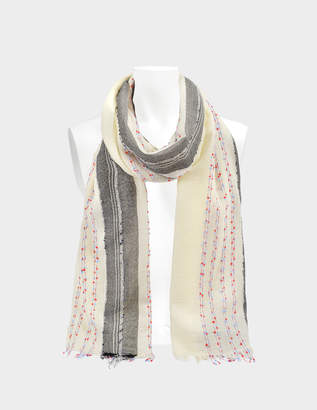 Zadig & Voltaire Beads Shawl in Judo Wool and Synthetic Fabrics
