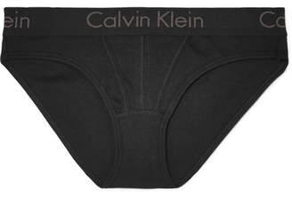 Calvin Klein Underwear Printed Cotton Briefs - Black