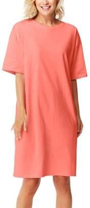 Hanes Women's Cotton Wear-Around Crew Neck T-shirt