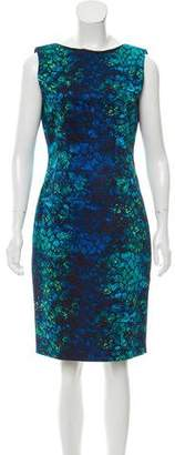 T Tahari Print Sheath Dress