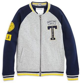 True Religion Boys' Heavy Knit Varsity Jacket - Little Kid, Big Kid $119 thestylecure.com