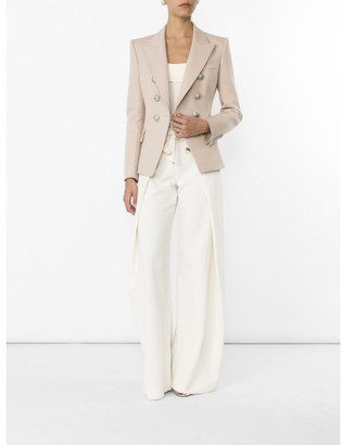 Balmain Natural Double-breasted Wool Blazer $2,230 thestylecure.com