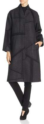 Eileen Fisher Geometric Print Wool Coat