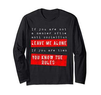 Antisocial Long Sleeve Shirt - Leave Me Alone-Introverts