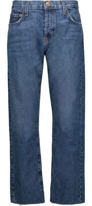Current/Elliott The Original Straight High-Rise Cropped Straight-Leg Jeans