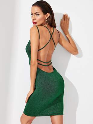 Shein Double Strap Form Fitted Dress