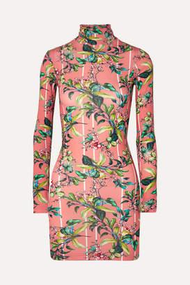 Vetements Floral-print Stretch-jersey Mini Dress