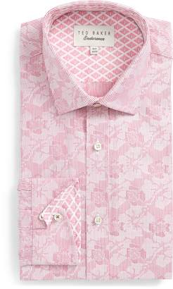 Ted Baker Orlov Trim Fit Floral Dress Shirt