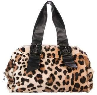 Ermanno Scervino Leather-Trimmed Ponyhair Shoulder Bag