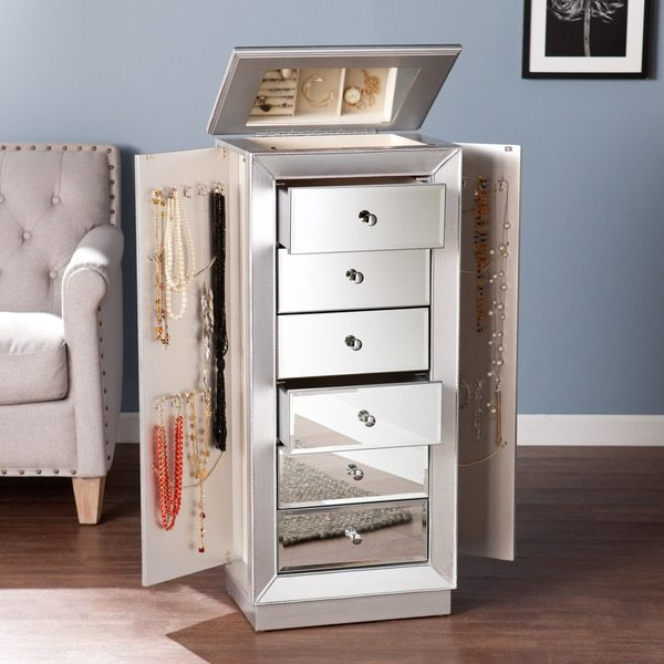 Harper Blvd Jarvis Silver Jewelry Armoire
