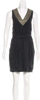 Theory Embellished Silk Dress