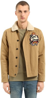 Kent & Curwen Wick Cotton Jacket W/ Faux Shearling