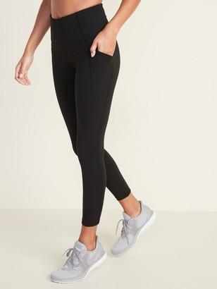 Old Navy High-Waisted Elevate Side-Pocket 7/8-Length Compression Leggings For Women