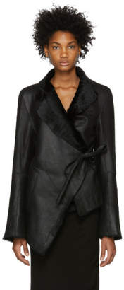 Ann Demeulemeester Black Leather Amrita Jacket