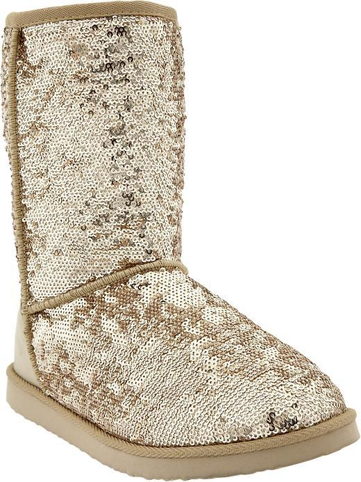 Old Navy Women's Sequin-Sherpa Boots
