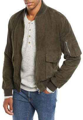 Neiman Marcus Valstar for Men's Suede Bomber Jacket