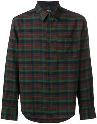 A.P.C. tartan pattern shirt