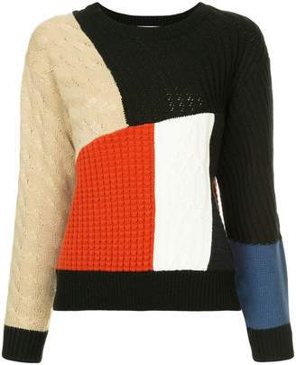 GUILD PRIME patchwork jumper