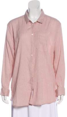 Hatch Collared Button-Up Top