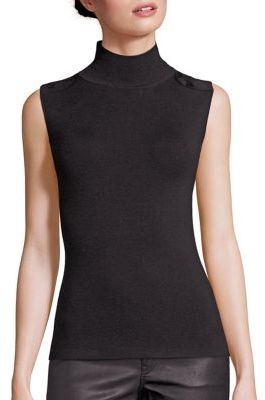 Polo Ralph Lauren Suede Patch Rib-Knit Turtleneck Sweater $145 thestylecure.com
