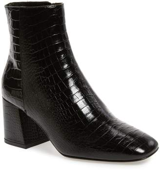 Freda Salvador Charm Reptile Embossed Bootie