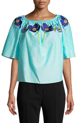 Temperley London Amity Off-The-Shoulder Top