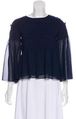 See by Chloe Bell Sleeve Smocked Top