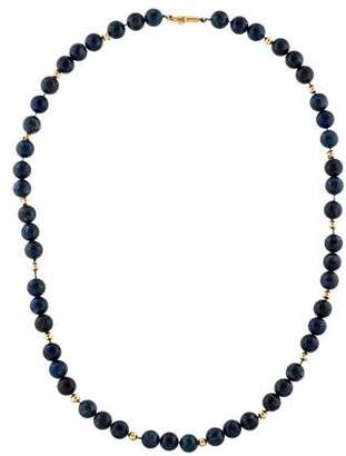 Lapis 14K Lazuli Bead Necklace