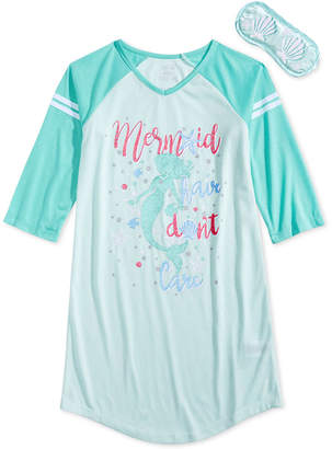 Max & Olivia Mermaid Graphic-Print Nightgown, Little Girls & Big Girls