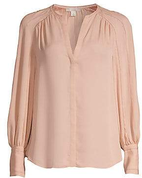 Joie Women's Aban Embroidered Collarless Blouse