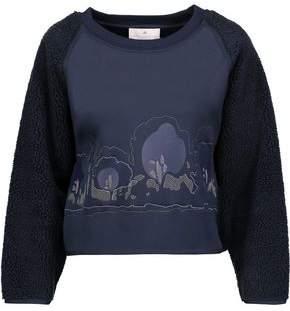 adidas by Stella McCartney Teddy Fleece-Paneled Embroidered Neoprene Sweatshirt