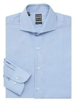 Ike Behar Micro-Houndstooth Dress Shirt