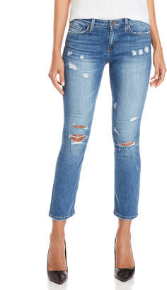 Flying Monkey Distressed Cropped Straight Leg Jeans