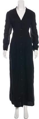 Billy Reid Cardigan Long Sleeve Maxi Dress