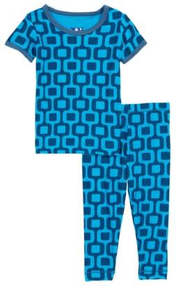 Kickee Pants Two-Piece Fitted Pajamas
