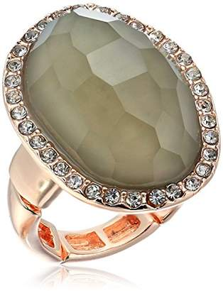 T Tahari Mystic Sands Women's Framed Large Stone Cocktail Ring