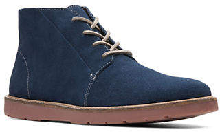 Clarks Lace-Up Suede Low Boots